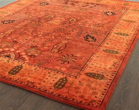 rugsville overdyed rust rug 12200 rugsville co uk