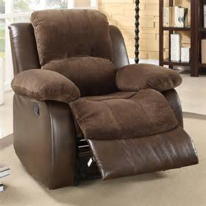 Large Recliners Homelegance Hartdell Microfiber Faux Leather Oversized