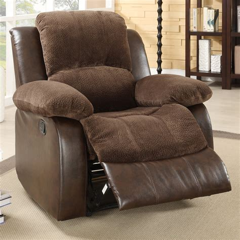 oversized microfiber recliner homelegance hartdell microfiber faux leather oversized