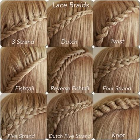 name of braiding styles different braiding styles