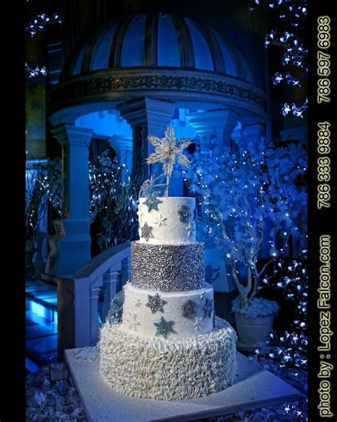 quinceanera themes for winter winter wonderland cake pastel cake quinceanera sweet 15