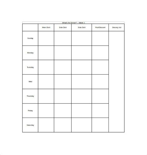 meal plan template docs sle weekly meal plan template 9 free documents in