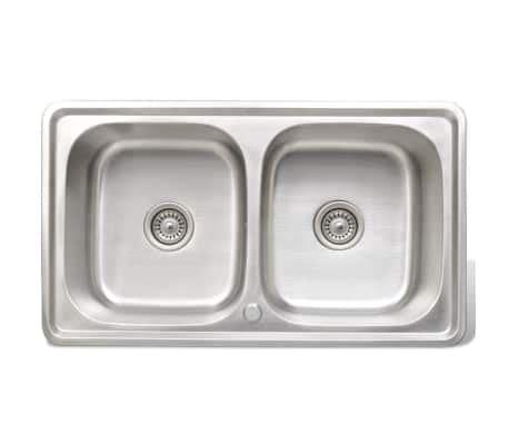 lavello doppio cucina lavello doppio quadrato per cucina in acciaio inox con