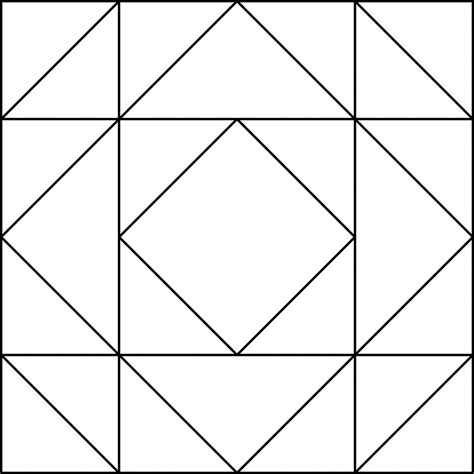 Square Patchwork Templates - coloring pages quilt patterns coloring pages printable