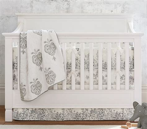 organic nursery bedding sets organic natalie baby bedding sets pottery barn