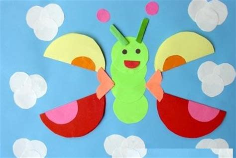 Paper Folding For Kindergarten - preschool paper folding activities for butterfly