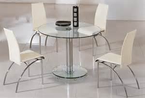 Circular Glass Dining Table And Chairs Glass Dining Table And Chairs