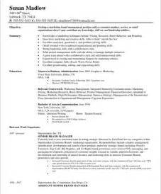 Brand Marketing Manager Sle Resume by Developing A Targeted Brand Manager Resume Exle