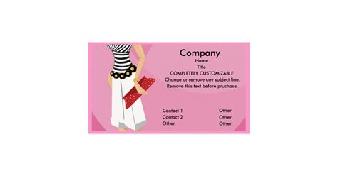 high fashion boutique business card template zazzle