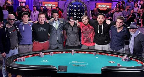 wsop table the nine november nine set in 2015 series of event
