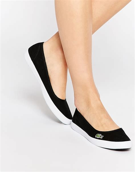 Lacoste Marthe Frs Spw Cnv Flats Womens lacoste marthe lcr slip on slip on black shoes 2561217