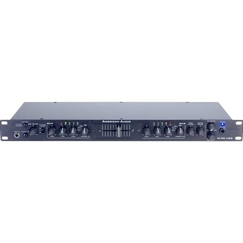 1u Rack Mixer by American Audio M 52 1u Usb Rackmount Mixer Musician S Friend