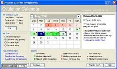 Calendrier Menstruel Ovulation T 233 L 233 Charger Ovulation Calendar