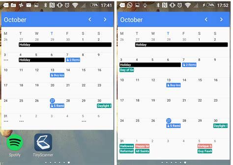 calendar widget android calendar version 5 6 2 finally brings a month widget