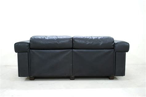black two seater sofa black leather two seater sofa from de sede 1970 for sale