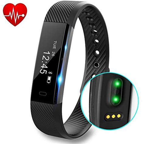 Fitness Tracker with Heart Rate monitor V2 Activity Watch Step Walking Sleep Counter Wireless