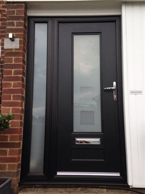 Contemporary Upvc Front Doors Again Black Popular Colour For Front Doors Modern Front House Front