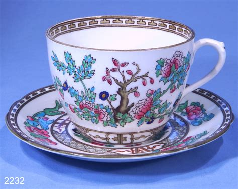 vintage china anchor china indian tree vintage bone china tea cup and