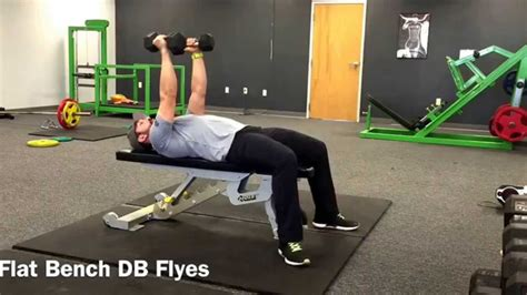 bench flyes db flat bench flyes 915 gym tutorial youtube