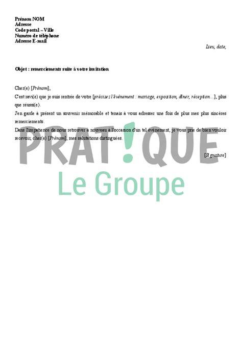 Exemple De Lettre De Remerciement A Une Invitation Exemple De Lettre De Remerciement Suite 224 Une Invitation Covering Letter Exle