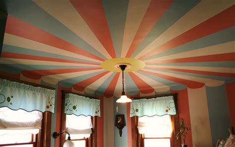 Circus Tent Ceiling circus tent painted ceiling a new coat