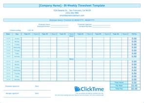biweekly timesheet template biweekly timesheet template free excel templates clicktime