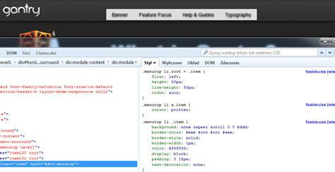 tutorial joomla gantry jak zmienić styl menu jak dostosować wygląd menu