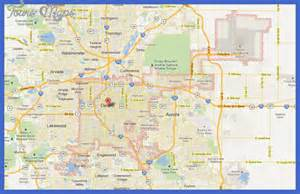 denver map map travel vacations