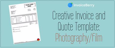 photographer quote template creative invoice and quote template photography