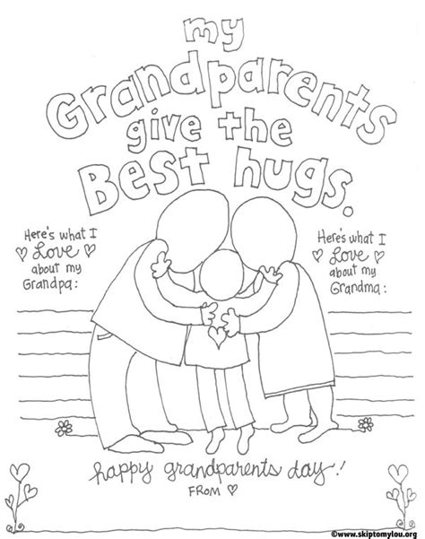 grandparents day card template grandparents day free printables free clipart