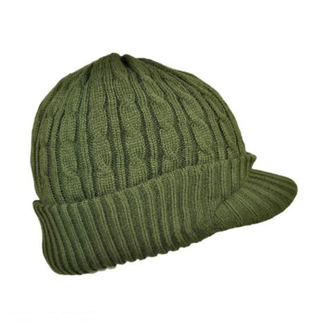 Knit Beanie jaxon hats cable knit visor beanie hat beanies