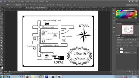 cara membuat qr code peta cara membuat denah lokasi undangan dengan photoshop youtube