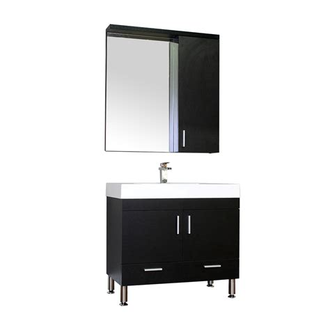 Black Modern Bathroom Vanity Alya At 8089 36 Quot Single Modern Bathroom Vanity Black