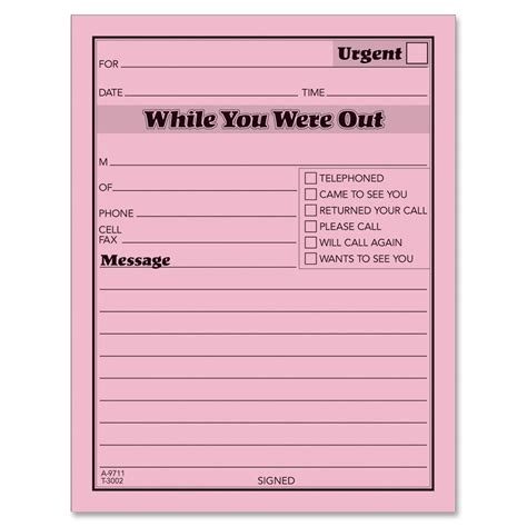 while you were out template while you were out template wordscrawl