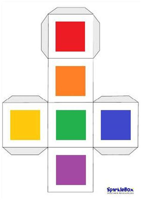 printable colour dice rainbow race game