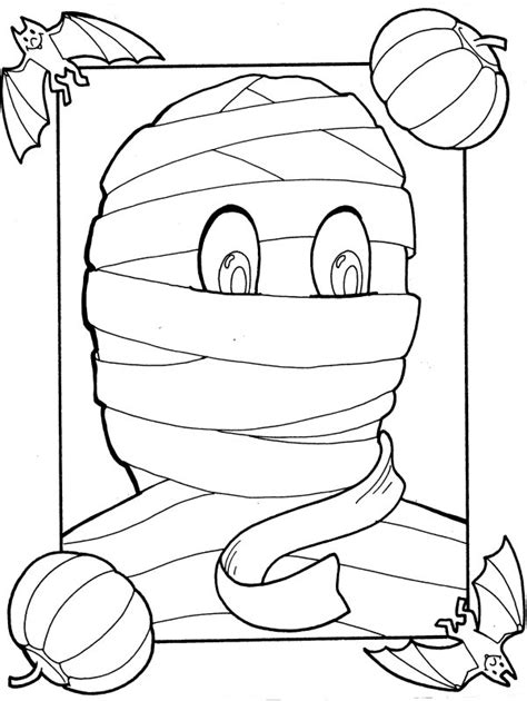 mummy coloring page az coloring pages