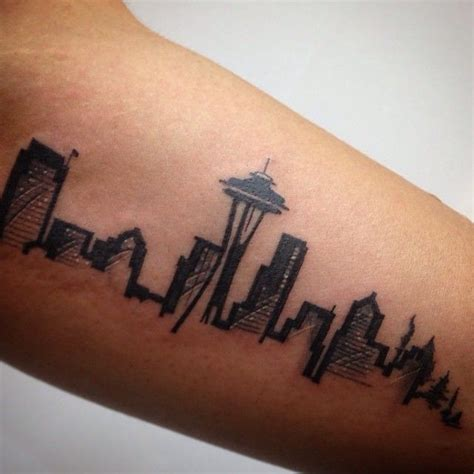 seattle skyline tattoo designs best 10 seattle ideas on desert
