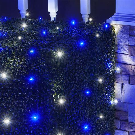 Led Net Lights 4 X 6 Led Net Lights 100 Blue Cool White Net Lights For