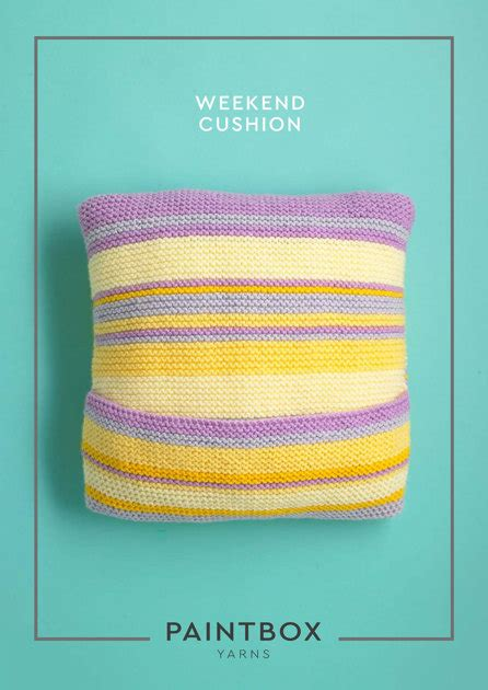 Paintbox Yarns Cotton Dk Spearmint Green weekend cushion in paintbox yarns simply chunky downloadable pdf