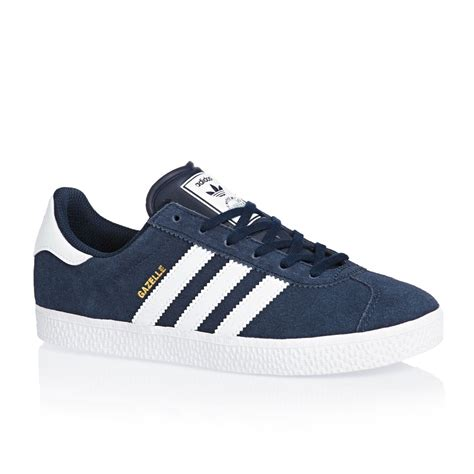 Adidas Originals Gazelle 1 Adidas Originals Gazelle 2 Junior Trainers Collegiate