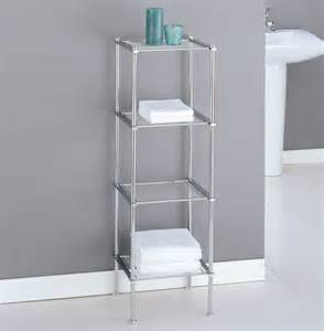 Chrome Shelves Bathroom Metro Four Tier Chrome Bath Shelf In Bathroom Shelves