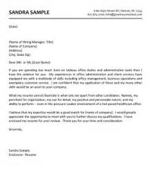 Cover Letter Exles Office Assistant by Administrative Assistant Cover Letter Exle