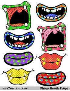9 best images of booth props printables mouths printable
