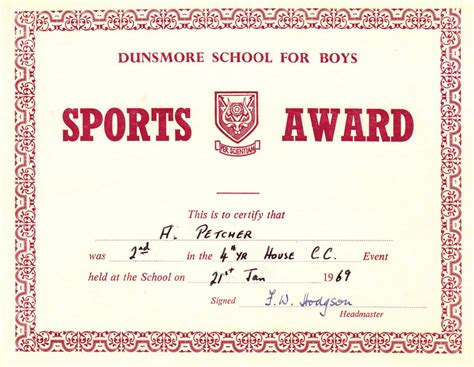 red award sports certificates word pdf