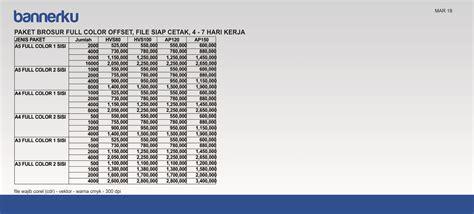 Paket Cetak Brosur Colour 2 Sisi Paper 120 Gram digital printing surabaya percetakan surabaya bannerku