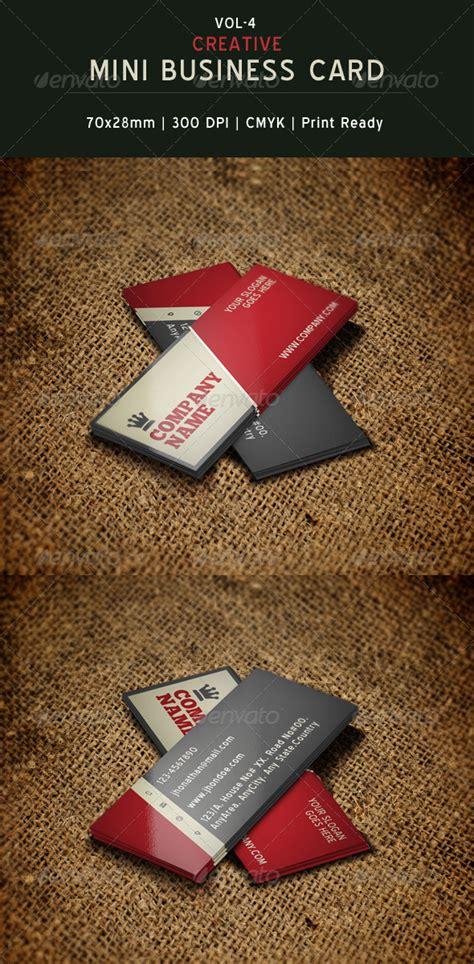 mini business cards template creative mini business card template 04 by creativesource
