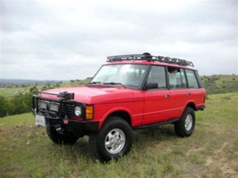 purchase used 1995 range rover classic 55 000 in work done ferrari red best rover ever