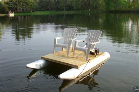 boat salvage floats pontoon pontoons deck chairs trolling motor float on