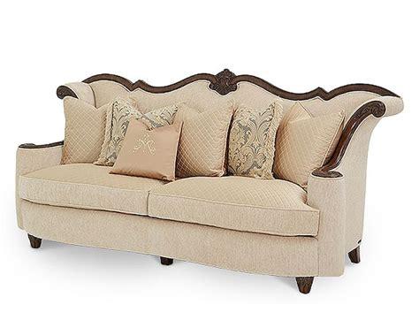sofa palace aico victoria palace wood trim sofa ai 61815 plgld 29