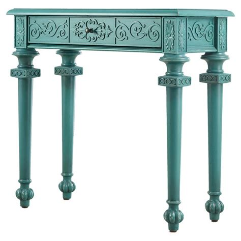 Teal Console Table Teal Console Table House Garden